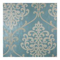 Sparkle Ambrosia Damask Wallpaper in Glitter Teal