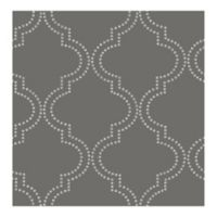 Symetrie Tetra Quatrefoil Wallpaper in Charcoal