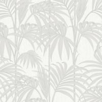 Graham & Brown Honolulu Wallpaper in White Ice