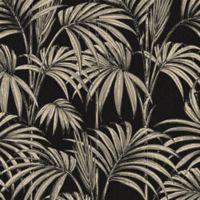Graham & Brown Honolulu Wallpaper in Black/Gold