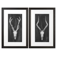 Uttermost Rustic European Mounts Framed Wall Art (Set of 2)