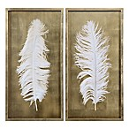 Uttermost White Feathers Wall Panels (Set of 2)