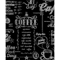 Graham & Brown Coffee Shop Wallpaper in Black/White