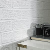Graham & Brown Brick Paintable Wallpaper in White