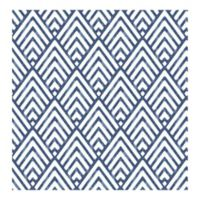 A-Street Prints Symetrie Vertex Diamond Geometric Wallpaper in Indigo