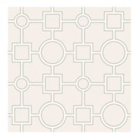 Brewster Home Fashions Symetrie Matrix Geometric Wallpaper in Light Grey