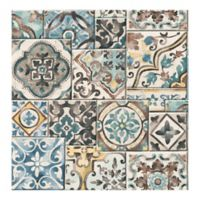 A-Street Prints Reclaimed Marrakesh Tiles Wallpaper in Teal