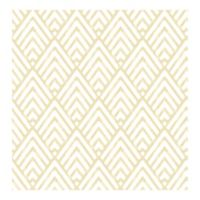 A-Street Prints Vertex Diamond Geometric Wallpaper in Gold