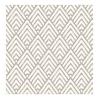 A-Street Prints Vertex Diamond Geometric Wallpaper in Charcoal