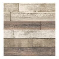 Brewster Home Fashions Reclaimed Weathered Plank Wallpaper in Rust