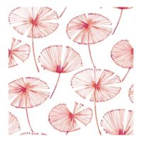 Brewster Home Fashions Catalina Paradise Fronds Wallpaper in Pink