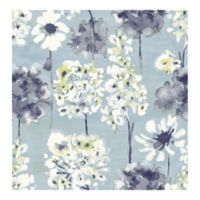 A-street Prints Catalina Marilla Watercolor Floral Wallpaper in Blueberry
