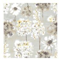 A-street Prints Catalina Marilla Watercolor Floral Wallpaper in Yellow