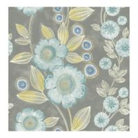 A-street Prints Catalina Bloom Floral Wallpaper in Grey