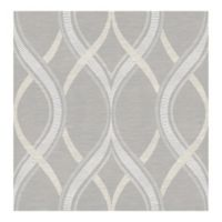 A-street Prints Symetrie Frequency Ogee Wallpaper in Grey