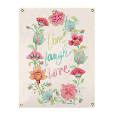 Live Love Laugh Wreath All-Weather Canvas Wall Art