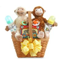 California Delicious Two Little Monkeys Baby Gift Basket