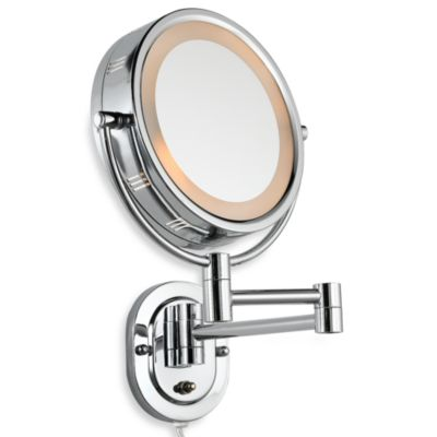 Jerdon 5X 1X Lighted Chrome Wall Mount Mirror