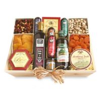 California Delicious Ultimate Meat & Cheese Wooden Gift Crate