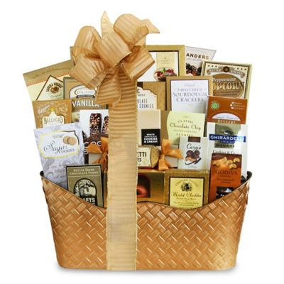 Buy gourmet gift baskets from bed bath beyond golden holiday gourmet gift basket negle Image collections