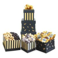 Black & Gold Elegance Chocolate Gift Tower