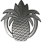 Thristystone® Pineapple Trivet in Silver