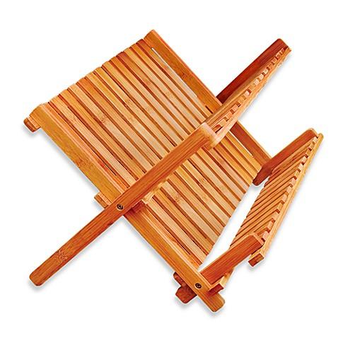 Bamboo Folding Dish Rack Bed Bath Amp Beyond