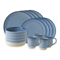 ED Ellen DeGeneres Crafted by Royal Doulton® Brushed Glaze 16-Piece Dinnerware Set in Polar Blue