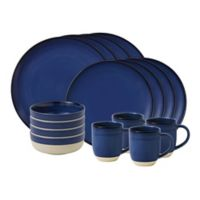 ED Ellen DeGeneres Crafted by Royal Doulton® Brushed Glaze 16-Piece Dinnerware Set in Dark Blue