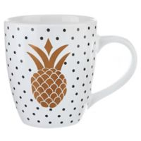 Formations Pineapple Jumbo Mug in White/Gold