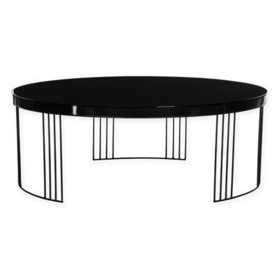 safavieh keelin mid century lacquer coffee table in black
