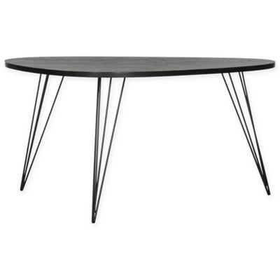 safavieh rocco retro mid century wood coffee table in black