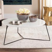 Safavieh Mae Retro Mid Century Lacquer Coffee Table in Lacquer White/Black