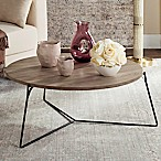 Safavieh Mae Retro Mid Century Wood Coffee Table in Light Grey/Black