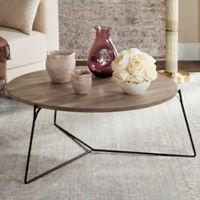 Safavieh Mae Retro Mid Century Wood Coffee Table in Light Grey/Black