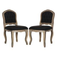Safavieh Eloise French Leg Dining Chairs in Black (Set of 2)