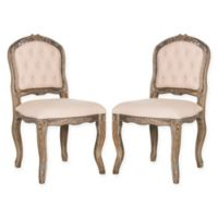 Safavieh Eloise French Leg Dining Chairs in Beige (Set of 2)