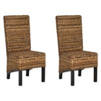 Safavieh Pembrooke Rattan Side Chair in Natural (Set of 2)