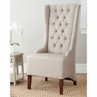 Safavieh Bacall Linen Dining Chair in Taupe