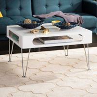 Safavieh Keaton Coffee Table in White/Chrome