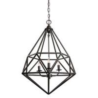 Varaluz® Facet 3-Light Pendant Light in Forged Iron