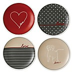 "ED Ellen DeGeneres Crafted by Royal Doulton® ""Love"" Signature Mini Appetizer Plates (Set of 4)"