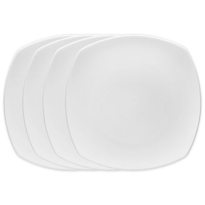 Fortessa® Voro Square Dinner Plate (Set of 4)  sc 1 st  Bed Bath u0026 Beyond & Buy White Square Dinner Plate from Bed Bath u0026 Beyond