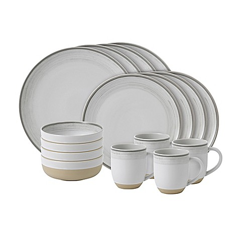 ED Ellen DeGeneres Crafted by Royal Doulton® Brushed Glaze 16-Piece Dinnerware Set in White - Bed Bath \u0026 Beyond  sc 1 st  Bed Bath \u0026 Beyond & ED Ellen DeGeneres Crafted by Royal Doulton® Brushed Glaze 16-Piece ...