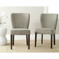 Safavieh Clifford Linen Side Chairs in Sea Mist (Set of 2)