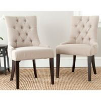 Safavieh Abby Side Chairs in Sand (Set of 2)