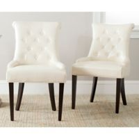 Safavieh Bowie Side Chairs in Cream (Set of 2)