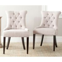 Safavieh Bowie Side Chairs in Taupe (Set of 2)
