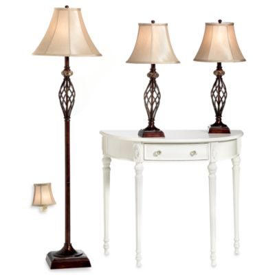 Buy lamp set from bed bath beyond bridge street 3 piece marble twist lamp set aloadofball Choice Image