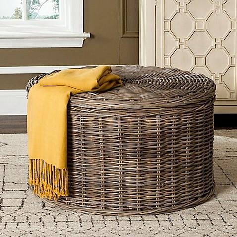 Safavieh Jesse Wicker Storage Coffee Table & Safavieh Jesse Wicker Storage Coffee Table - Bed Bath u0026 Beyond